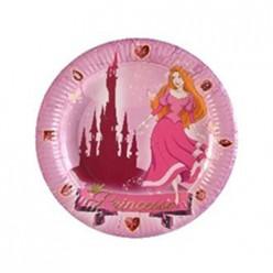 6 assiettes D 23cm - Princesses