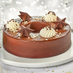 Couronne festive chocolat caramel - 8 parts
