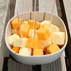Dés de mimolette et gouda