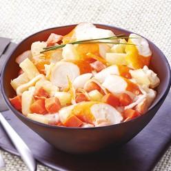 Duo ananas carottes surimi - 4/5 parts