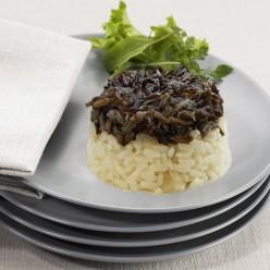 Duo riz noir et blanc en timballe