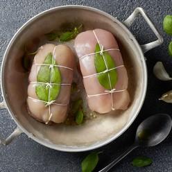 Escalope de poulet farcie au basilic
