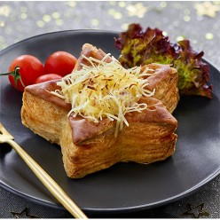 Etoile feuilletée jambon fromage