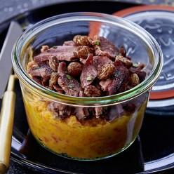 Filet de Canard et Purée de patate douce, coco et curry