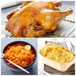 Menu familial poulet rôti pour 4 personnes