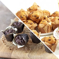 Assortiment de 6 muffins chocolat / nature
