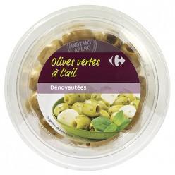 Olives vertes dénoyautées à l'ail