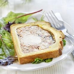 Pâté en croute poulet crème de Bresse épaisse AOP Morilles et vin jaune