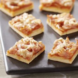 Minis pizzas jambon fromage - 30 toasts