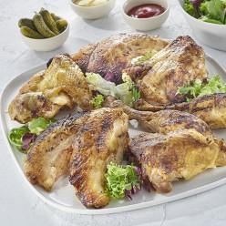 Plateau de poulet certifié rôti découpé en 8