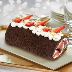 Roulé chocolat fraise - 6 parts