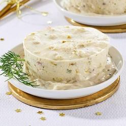 Royale de Saint Jacques pistaches et sauce truffe