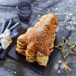 Sapin de Noël garni - 30 toasts