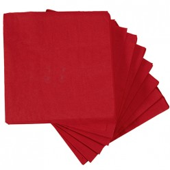 50 serviettes en papier rouge 33x33 cm Carrefour Home