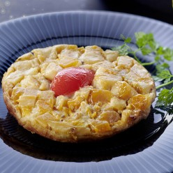 Tatin de saumon aux petits légumes