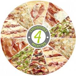Pizza - 4 saveurs au choix - 8 parts