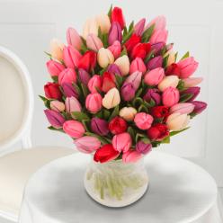 Bouquet de Tulipes de Printemps pastel