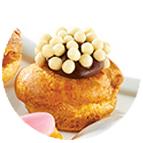 Minis choux craquelin chocolat noisette