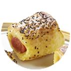 Feuilletés saucisse à la moutarde et recouverte de graines de pavot