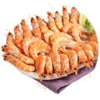Crevettes roses cuites 30/50