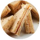 Sandwiches normands : crème de camembert