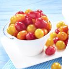 Tomates cerises rouges et jaunes