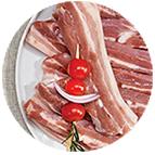 Tranches de poitrine de porc (100g)