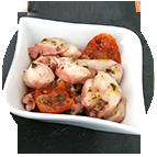 Barquette de d'encornets marinés au basilic et piment d'Espelette (170g)