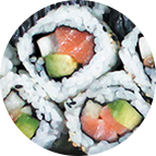 California rolls saumon