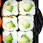 California rolls sans algue avocat et fromage