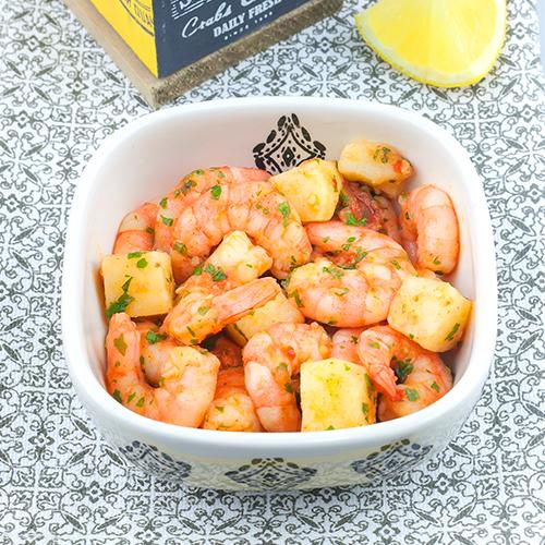Crevettes à la galicienne