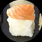 Nigiri saumon fromage crémeux