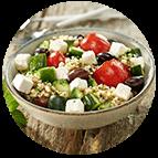 Salade grecque (parts de 100g)