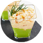 Verrines avocat cocktail de crevettes (45g)