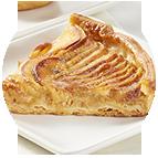 Part de tarte vergeoise aux pommes
