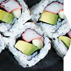 Nigiri sushis surimi