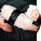 Nigiri sushis crevettes