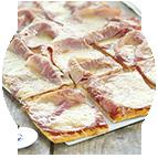 Pizza jambon fromage - 8 parts (préparée sur place - 1,5kg)