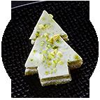 Sapins fromage de chèvre et pistache