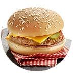 Minis burger cheddar