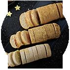 Minis pains préfous : chorizo, ail et persil & tomates basilic (125g)