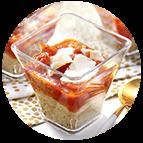 Verrines tomates pesto parmesan(45g)