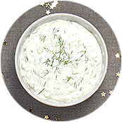 Tzatziki au yaourt grec, concombre, menthe et aneth