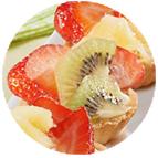 Minis tartelettes aux fruits (selon la saison : fraises, framboises, kiwi, ananas)