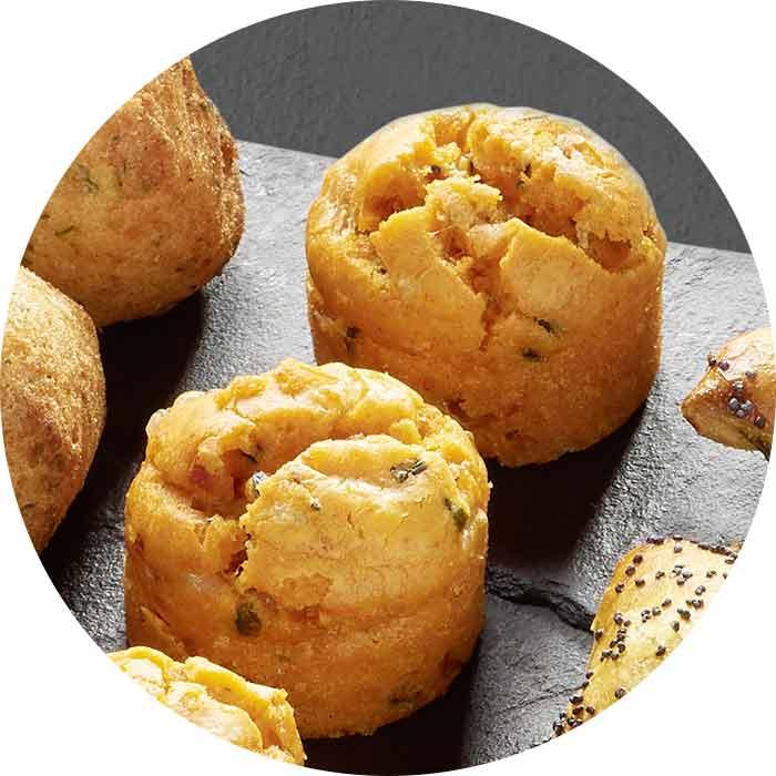 Mini cakes chorizo / fromage