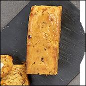 Cake foie gras figue monbazillac et Noisettes