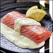 Pavé de saumon sauce citron basilic (150g)