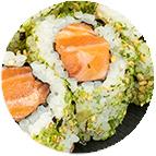 California saumon wasabi crispy