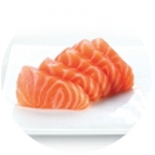 Tranches de sashimis de saumon