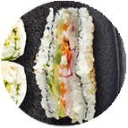 rice sandwich végétarien